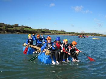 Raft Building in Rhoscolyn Anglsey